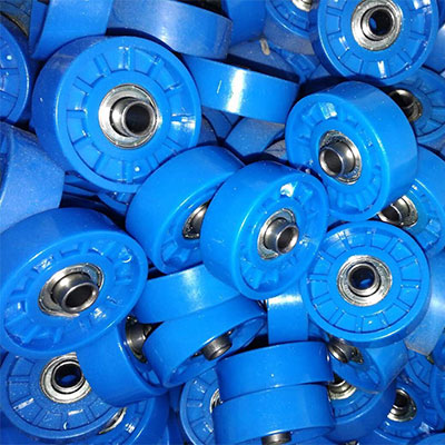 Blue color roller bearing plastic skate wheels